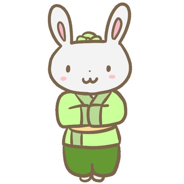 ウサギの彦星のイラスト