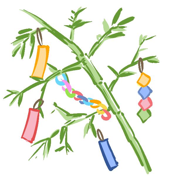 笹の葉のイラスト