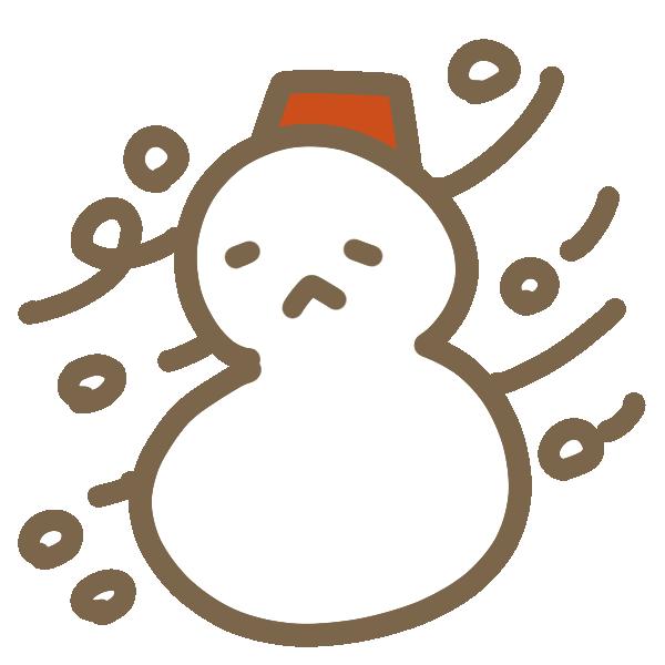 吹雪のイラスト