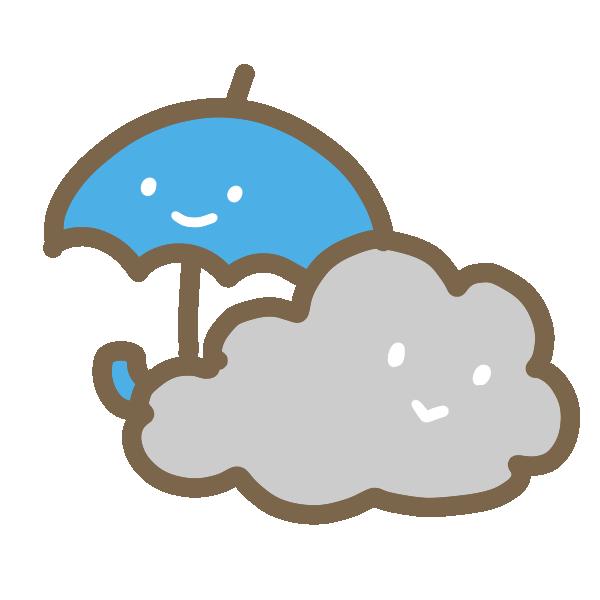 くもり時々雨のイラスト
