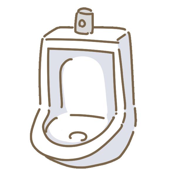 男子トイレのイラスト