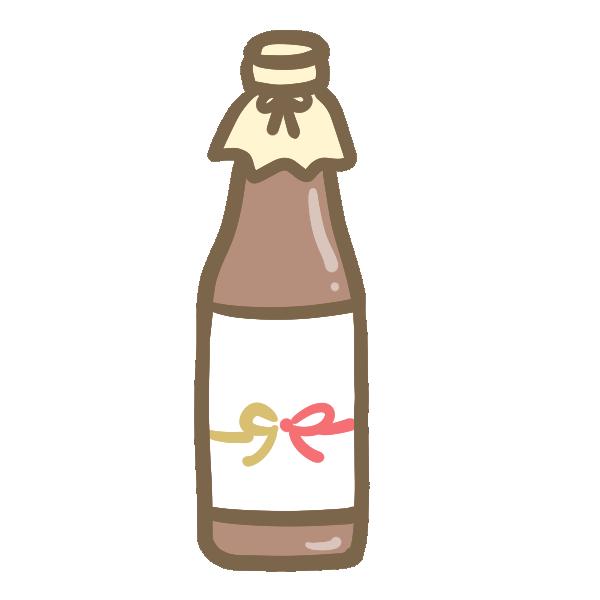お歳暮(お酒)のイラスト