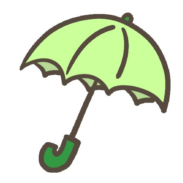 傘(緑)のイラスト