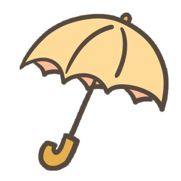 傘(オレンジ)のイラスト