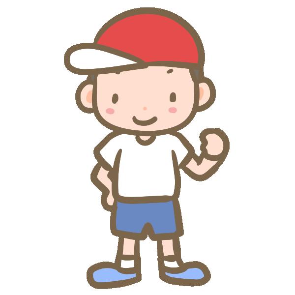 赤帽子の男の子のイラスト