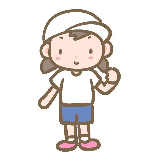 白帽子の女の子のイラスト