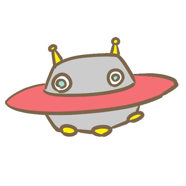 UFO(赤)のイラスト