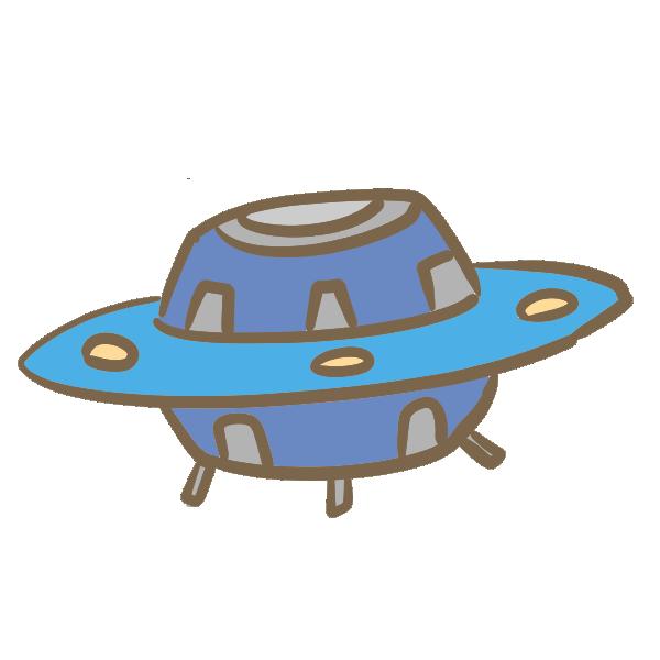 UFO(青)のイラスト