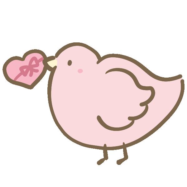 小鳥とチョコのイラスト