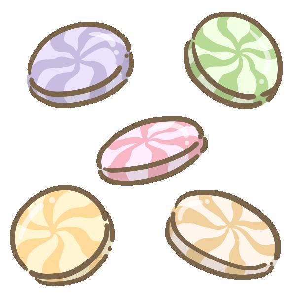 マーブルキャンディのイラスト