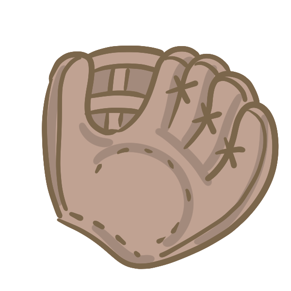 グローブ(茶)のイラスト