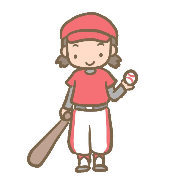 野球少女のイラスト