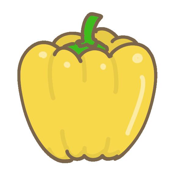 パプリカ(黄)のイラスト