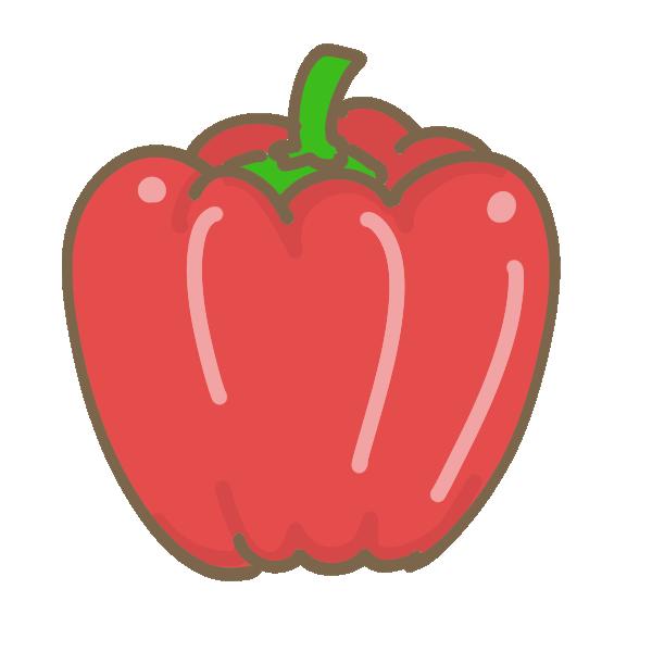 パプリカ(赤)のイラスト