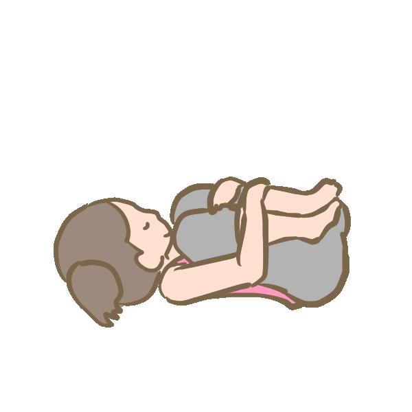 赤ちゃんのポーズのイラスト