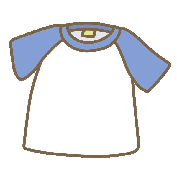 半袖Tシャツ(青×白)のイラスト