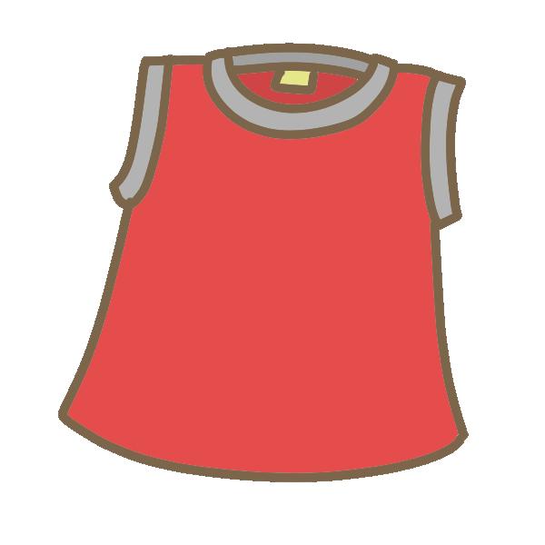赤いフレンチシャツのイラスト