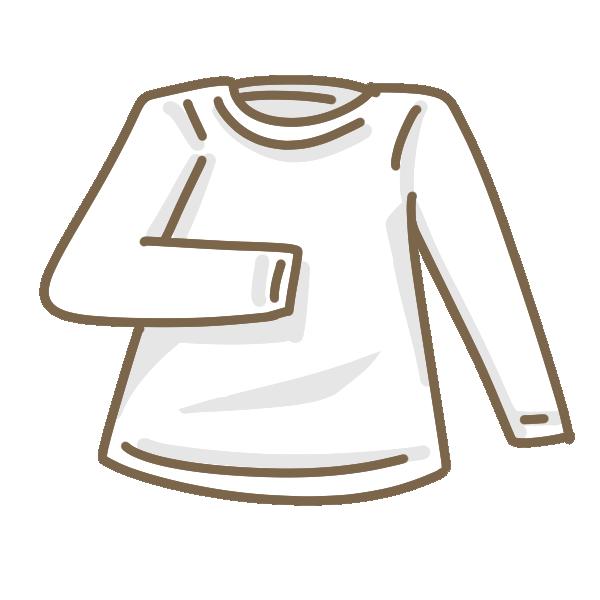 白い長そでTシャツのイラスト