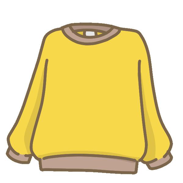 黄色いトレーナーのイラスト
