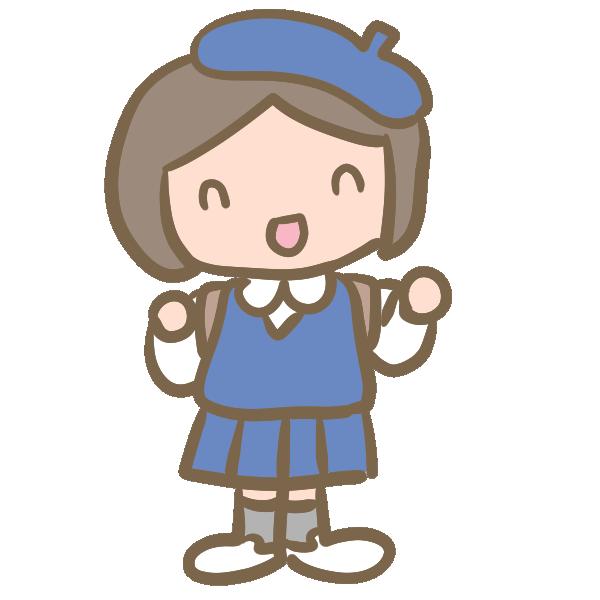 制服の園児(女の子)のイラスト