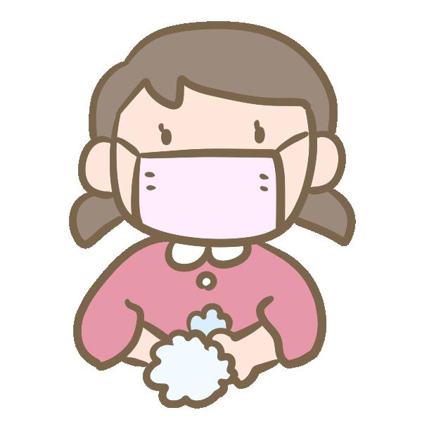 風邪予防(女の子)のイラスト