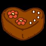 ハートのチョコレートケーキ1