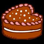 ハートのチョコレートケーキ2