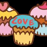 ハートのカップケーキ1