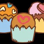 ハートのカップケーキ2