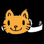 猫のお面(紙)