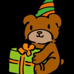 プレゼントとテディベア