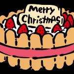 クリスマスケーキ(シャルロット風)