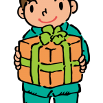 プレゼントをもらった男の子