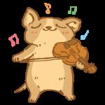 バイオリンを弾くチワワ3