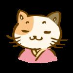 着物を着た三毛猫3