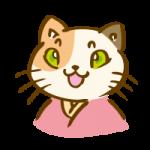 着物を着た三毛猫6