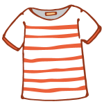 Tシャツ(赤ボーダー)