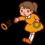 輪投げ3(投げる女の子)