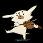バイオリンを楽しく弾くチワワ