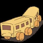 木でできたおもちゃの電車