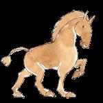 淡い水彩画タッチの馬