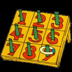 数字のわなげボード