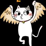 鷹のまねをするいくら(猫)