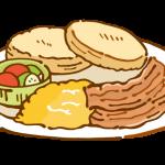朝食(イングリッシュマフィン)