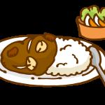 カレーライスとサラダ