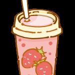 イチゴのヨーグルトドリンク