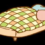 パッチワークのベッドカバー