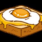 目玉焼きを載せたトースト