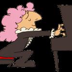 ピアノを弾いている外国人