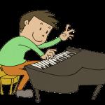 ピアノを弾いている男の子